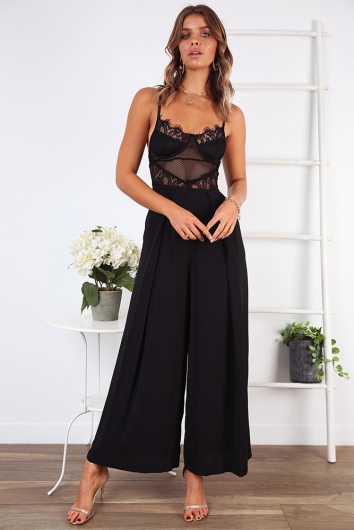Night to Remember Jumpsuit - Black