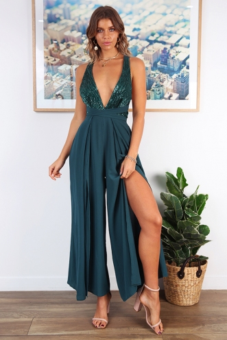 Vino Jumpsuit - Forest Green