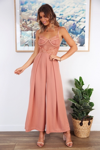 Night to Remember Jumpsuit - Terracotta