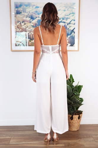 Night to Remember Jumpsuit - White