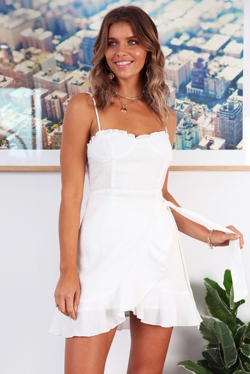 Deanna Dress - White