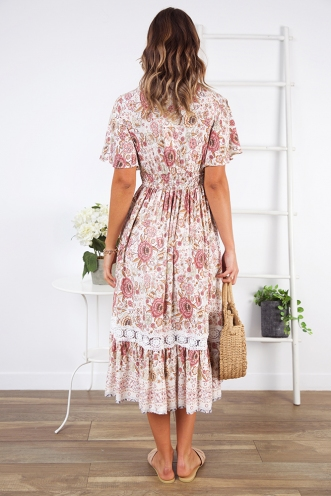 New Beginnings Dress - Pink Floral