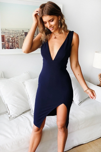New Romance Dress - Navy