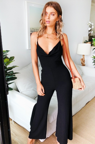 Feel the Rhythm Jumpsuit - Black