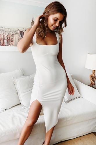 Tatum Dress - White