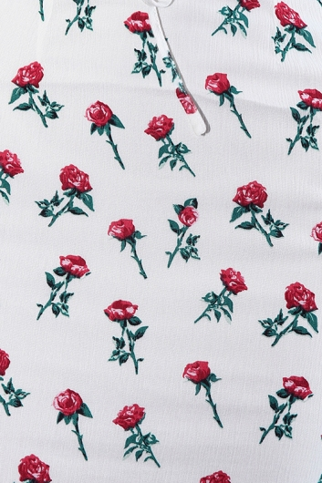 Floral Boy And A Rose Dress - White Rose