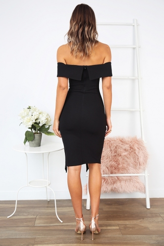 Renata off the shoulder dress - Black