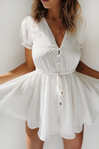 Bella Vista Playsuit - White