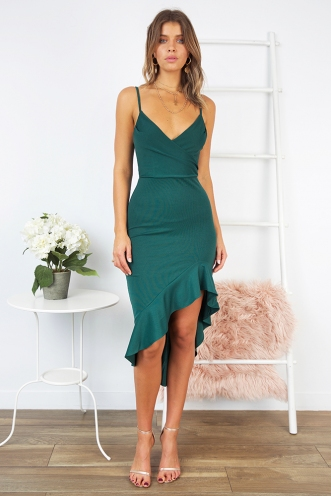 Caitlyn Dress - Forest Green