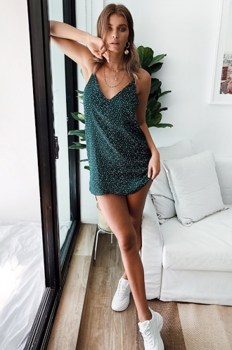 Life Of Illusion Dress - Green Spot