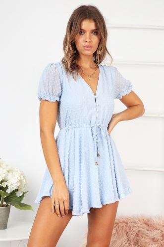 Bella Vista Playsuit - Powder Blue