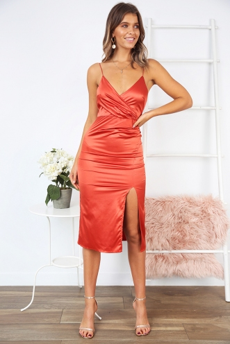 Shelly Dress - Coral
