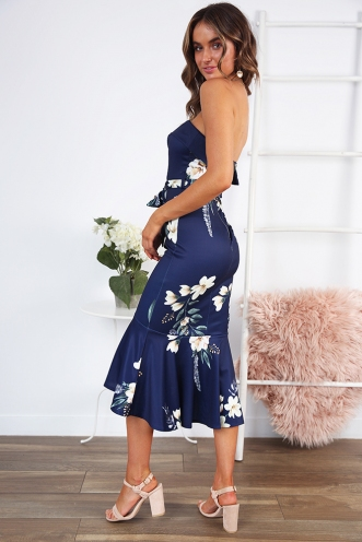 Love Affair Dress- Navy Floral