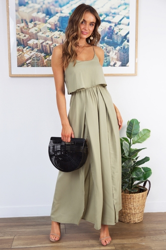 Remember Me Jumpsuit - Khaki