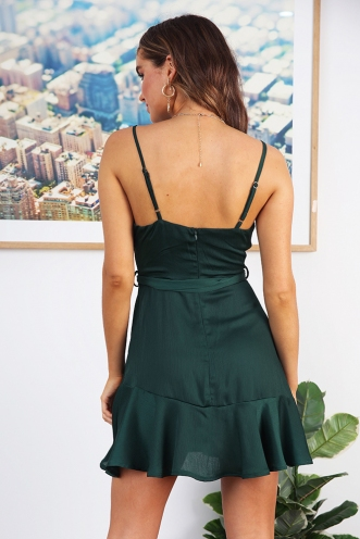 One Night Dress- Forest Green