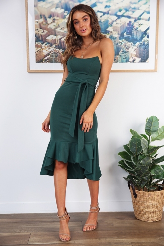 Janna Dress - Forest Green