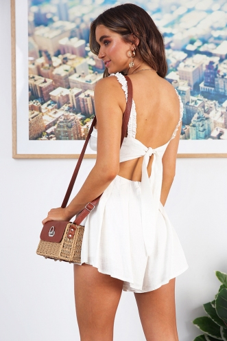 Summer Breeze Playsuit - White