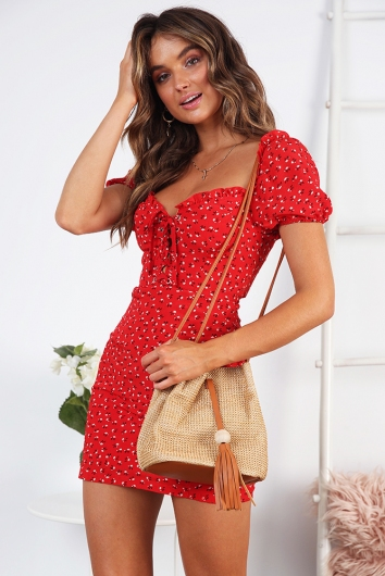 Codylee Dress - Red Floral
