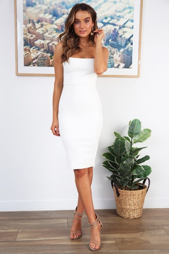 Makeeley Dress - White Texture