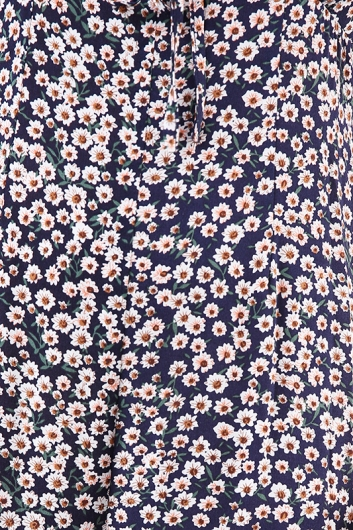 Daisy Chain Jumpsuit - Navy Floral
