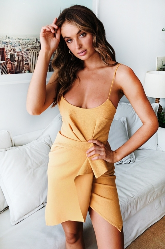 Misha Dress - Mustard