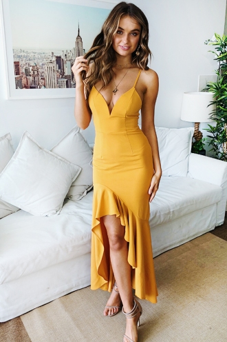 Bailey Dress- Mustard