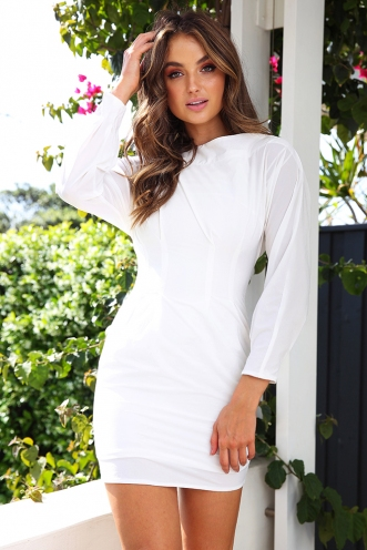 Nikiesha Dress - White