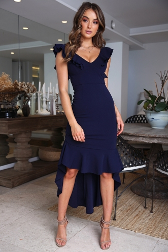 Haylee Dress - Navy