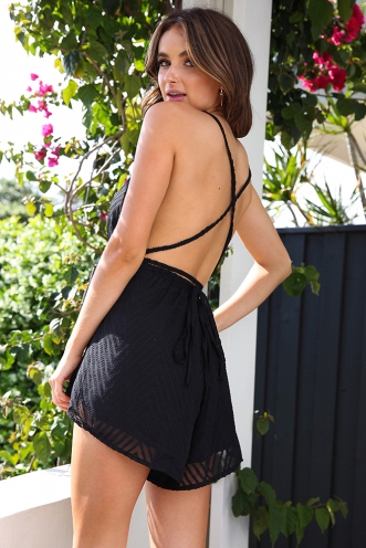 Step Up Playsuit - Black