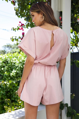 Aimee Playsuit - Blush
