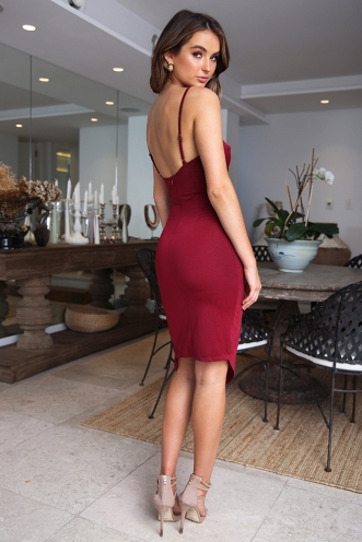 Roshini Dress - Wine