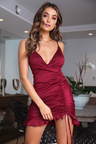 Kaisha Dress - Wine