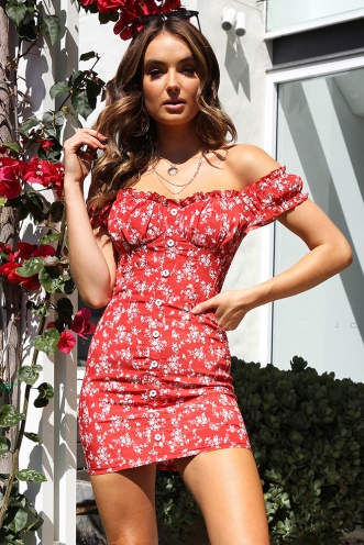 In The Summer Dress - Red Print