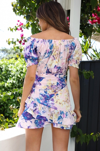 Flower Fields Dress - Mix Purple