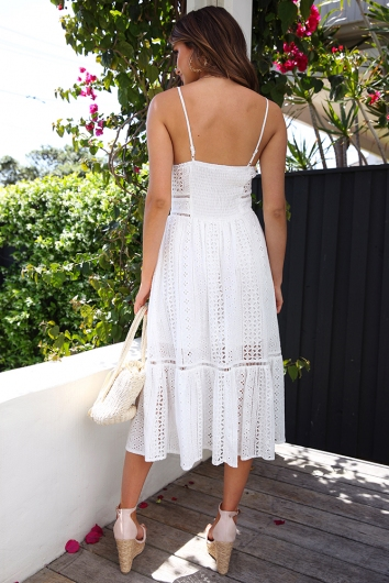 Live While We're Young Dress - White