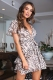 Fly With Me Dress - Beige Print