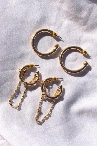 Minc Collections - Oron Earring Set - Gold