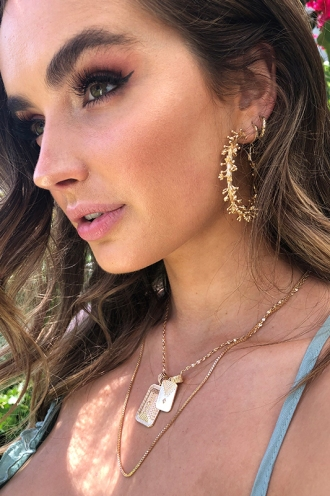 Minc Collections - Acacia Hoops - Gold