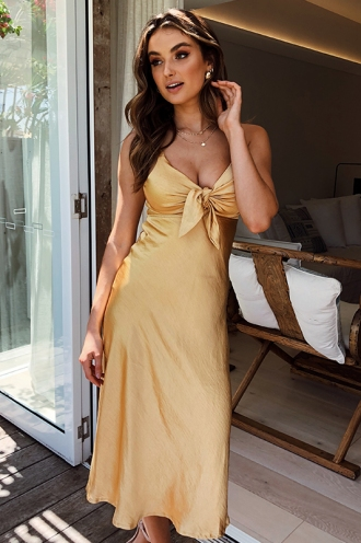 Cappadocia Sunset Dress - Mustard