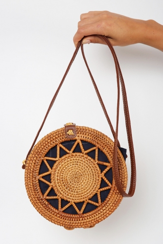 Elijah Circle Sling Bag - Natural
