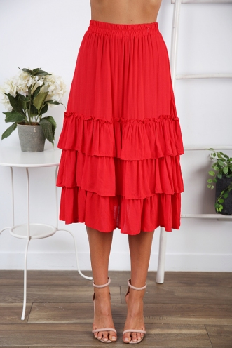 Senorita Skirt- Red