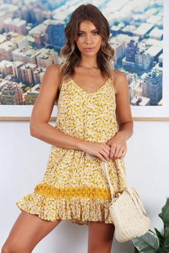 Sun and Fun Dress - Yellow