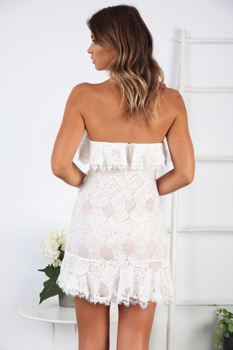 Prime Time Dress- White Cream