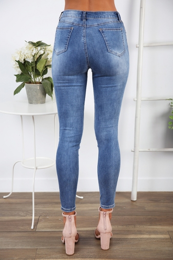 Laura Styles Jean - Denim blue