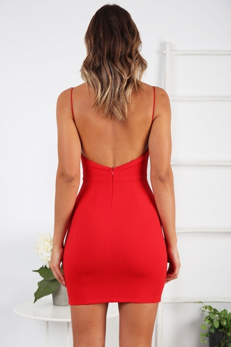 Late Night Dress- Red