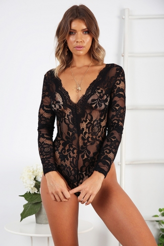 Sariana Bodysuit - Black