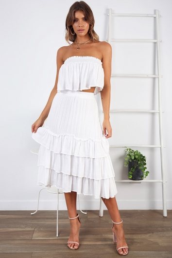 Senorita Skirt- White