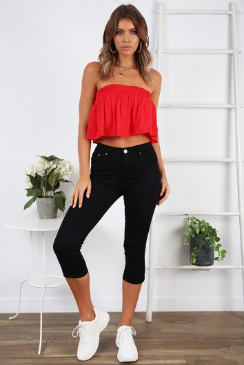 Break Away Crop Jean - Black