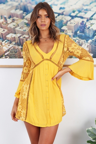 Patricia Dress - Yellow