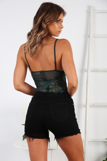 Lounge All Day Bodysuit - Forest Green